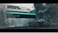 Dank, Run, and Monte Carlo: LANTOSQUIE  HISTORIC RUN  RACE 1 OF 2, MONTE CARLO, BOIS NOIR  BLAST  BONUS FI  RACE  ENTRANTS  DIFFICULTY AND ASSISTS  VEHICLE SETUP  RALLY  2,250 REP  2.250 REP R Crackin' a cold one open at the Bois Noir