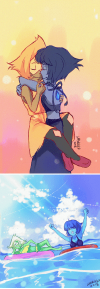 Target, Tumblr, and Summer: LAR KUKA  2018 larskukka:Wanted to draw lapis and peridot in bikins before summer ends xD I'm really waiting to see their fusion and I CANT WAIT xD OH AND THEIR NEW OUTFIT 🤩