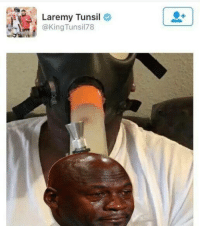 When you get high instead of getting drafted high Credit: Crying Jordan   LIKE NFL Memes!: Laremy Tunsil  @King Tunsil 78 When you get high instead of getting drafted high Credit: Crying Jordan   LIKE NFL Memes!