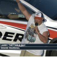 """Memes, Nascar, and Grand: LARRY THE CABLE GUY  GRAND MARSHAL """"Git 'er done!"""" Engines fired at @kansasspeedway. Let's go NASCAR racing on @fs1."""
