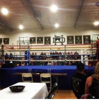 LAS  CHAMPIONS  CO CHAMPIONS Out Here In RiverSide @ Notre Dame High School Catching Some Amateur Bouts 👊🏼 thefightteam amateurboxing riverside boxeo hammerheadboxing raincrossboxingacademy teamlopez fightnight