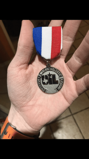 School, Good, and Happy: LAS  TIC  NTER For those of y'all who don't know, I play the Cello in the Varsity orchestra at my high school. I was the only orchestra member at my school to make it to state and I got a 2 (which is pretty good for the first time) and here's my medal! So happy!