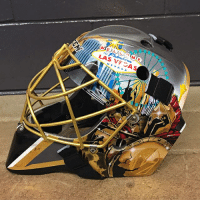 Memes, Las Vegas, and Mask: LAS VF CAS How about that Vegas mask on Marc-Andre Fleury! NHLDiscussion GoldenKnights