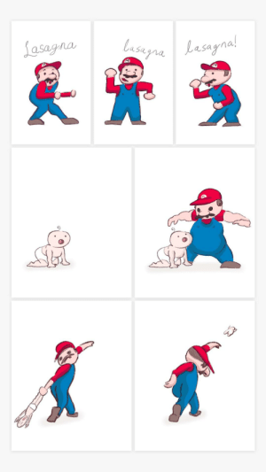 """big announcement! I am excited to announce that I'm officially OUT of ideas. That's right! Expect to see a severe drop off in the quality of everything I produce - physically and spiritually. I call this piece, """"Mario does the lasagna dance and then throws a baby"""". [OC]: Lasagna  lasugnaLasagnal  Lasayna!  M big announcement! I am excited to announce that I'm officially OUT of ideas. That's right! Expect to see a severe drop off in the quality of everything I produce - physically and spiritually. I call this piece, """"Mario does the lasagna dance and then throws a baby"""". [OC]"""