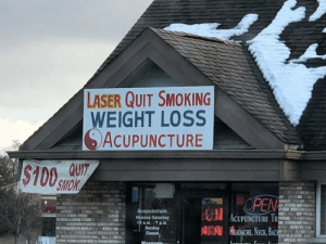 quit smoking: LASER QUIT SMOKING  WEIGHT LOSS  SACUPUNCTURE  100  SMOK  OPEN  ACUPUNCTURE IR  HEADACHE,NECK, BACH  upuncture  Minnday-Saturday  10am-7 p.m  SA  g130  , a漩12  Sunday  Closed