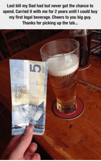 picking up the tab