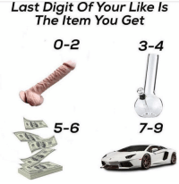 Good luck😂comment why you get🙄tag a friend: Last Digit Of Your Like Is  The Item You Get  O-2  3-4  5-6  7-9 Good luck😂comment why you get🙄tag a friend