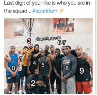 Dope, Instagram, and Memes: Last digit of your like is who you are in  the squad #sparkfam  3  @spark sports  6-7  4  SKEBALL  5  0  8  9  2  e; (SWIPE ➡️) You follow @spark_sports already? Follow my good friend, @spark_sports literally has some of the dope content on all of Instagram AND guaranteed to make you laugh... seriously... Check @spark_sports yourself and follow them 🐐❤️