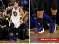 Cavs, Memes, and Sneakers: LAST NIGHT'S GAME Steph Curry paid tribute to his favorite President last night ... rockin' a special pair of Obama-themed Curry 3 sneakers to play the Cavs ... complete with 44's signature on the bottom! stephcurry obama cavs tmzsports tmz