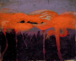 last-picture-show:  Abbott Handerson Thayer, Red Flamingoes, 1909: last-picture-show:  Abbott Handerson Thayer, Red Flamingoes, 1909