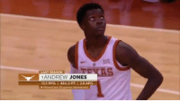 Memes, Games, and Leukemia: LAST SEASON  1ANDREW JONES  13.5 PPG | 46% 3-PT I 2.0 APG  Missed last 20 games (leukemia) Andrew Jones' emotional return since being diagnosed with leukemia in January. He finished with 1 point, 1 rebound, 1 assist and 1 steal in 9 minutes.  (Via @LonghornNetwork) https://t.co/1yfArwqr8j