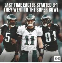 Philadelphia Eagles, Super Bowl, and Time: LAST TIME EAGLES STARTED 8-1  THEY WENT TO THE SUPER BOWL  B R 2004 Season: Super Bowl appearance. 2017 Season: ???