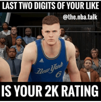 What did you get? 😂😂😂: LAST TWO DIGITS OF YOUR LIKE  @the.nba.talk  6  IS YOUR 2K RATING What did you get? 😂😂😂