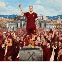 Nike's amazing tribute to Totti's 25 years at Roma. The Emperor.: (Lat  IT BETTER Nike's amazing tribute to Totti's 25 years at Roma. The Emperor.