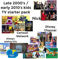 Late 2000 S Early 2010 S Kids Tv Starter Pack Nic Disney Channel