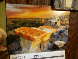 Lately I've been having a craving for grilled cheese, then I noticed my calendar and it all made sense.: Lately I've been having a craving for grilled cheese, then I noticed my calendar and it all made sense.