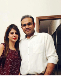 Beautiful, Click, and Memes: Latest click of the beautiful couple Mr. and Mrs. Virender Sehwag