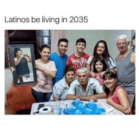 Latinos, Memes, and Living: Latinos be living in 2035 I'll be following the first 1000 people that follow my new account @savagebreh 👀🔥 Better hurry 👀