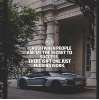 """I don't really laugh but it amazes me that people are looking for the """"key"""" to success when it's obvious! Get to work!💯 key success work millionairmentor: 