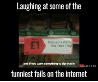 Dank, Fail, and Internet: Laughing at some of the  M Cookud Huu  Morrisons Wafer  Thin Penis 170g  and if you want something to dip that in  You Tube/ALONZO  funniest fails on the internet This right here is why I love the Internet 😂😂😭