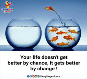 Life, Change, and Indianpeoplefacebook: LAUGHING  Colowrs  Your life doesn't get  better by chance, it gets better  by change!  oo0/laughingcolours #GoodMorning Everyone,  What are you plans for this month?