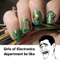 Be Like, Girls, and Indianpeoplefacebook: LAUGHING  Girls of Electronics  department be like