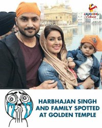 Family, Indianpeoplefacebook, and Harbhajan Singh: LAUGHING  HARBHAJAN SINGH  AND FAMILY SPOTTED  AT GOLDEN TEMPLE #CutenessOverloaded