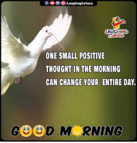 Change, Thought, and Indianpeoplefacebook: LAUGHING  ONE SMALL POSITIVE  THOUGHT IN THE MORNING  CAN CHANGE YOUR ENTIRE DAY.
