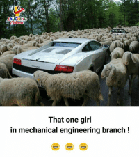 Girl, Engineering, and Indianpeoplefacebook: LAUGHING  That one girl  in mechanical engineering branch!