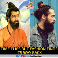 Fashion, Time, and Indianpeoplefacebook: LAUGHING  TIME FLIES BUT FASHION FINDS  ITS WAY BACK