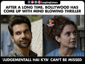 Can't wait :) 5 days to go :D #JudgementallHaiKya: LaughingColours  f  AFTER A LONG TIME, BOLLYWOOD HAS  COME UP WITH MIND BLOWING THRILLER  LAUGHING  JUDGEMENTALL HAI KYA' CAN'T BE MISSED Can't wait :) 5 days to go :D #JudgementallHaiKya