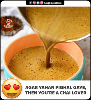 Indianpeoplefacebook, Agar, and Chai: LaughingColours  f  LAUGHING  Colours  AGAR YAHAN PIGHAL GAYE,  THEN YOU'RE A CHAI LOVER