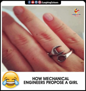 propose: LaughingColours  f  LAUGHING  Colowrs  HOW MECHANICAL  ENGINEERS PROPOSE A GIRL