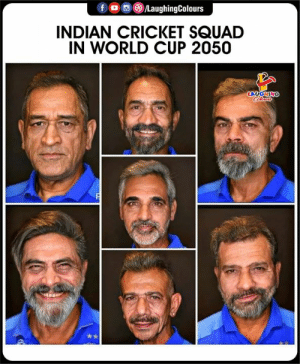 Cricket: /LaughingColours  INDIAN CRICKET SQUAD  IN WORLD CUP 2050  LAUGHING  Cleurs