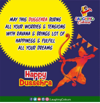 Good Morning, Good, and Dreams: LAUGHINO  LL YOUR WORRIES & TENSIONS  WITH RAVANA E BRINGS LOT OF  HAPPINESS& FuLFlL  ALL YOUR DREAMS Good Morning :) #HappyDussehra #HappyVijaydashami