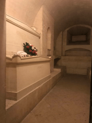 laughoutloud-club:  Legendary scientist Marie Curie's tomb in the Panthéon in Paris. Her tomb is lined with an inch thick of lead as radiation protection for the public. Her remains are radioactive to this day.: laughoutloud-club:  Legendary scientist Marie Curie's tomb in the Panthéon in Paris. Her tomb is lined with an inch thick of lead as radiation protection for the public. Her remains are radioactive to this day.