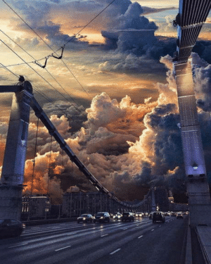 Club, Tumblr, and Blog: laughoutloud-club:  Sunset over Moscow