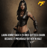 Memes, Deadpool, and DC Comics: LAURA KINNEY AKA X-23 ONCE GUTTED ASHARK  BECAUSE IT PREVIOUSLY BIT HER IN HALF |- What a savage😂 -| - - - - marvel marveluniverse dccomics marvelcomics dc comics hero superhero villain xmen apocalypse logan mu mcu doctorstrange spiderman deadpool meme captainamerica ironman teamcap teamstark teamironman captainamericacivilwar marvelfact marvelfacts fact facts suicidesquad starlord