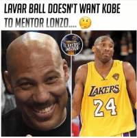 "LAVAR BALL DOESN'T WANT KOBE  TO MENTOR LONZO  INSIDER  24 Read what Lavar had to say about Kobe mentoring Zo:  🏀:""I don't need no advice from Kobe Bryant. I don't need advice from Kobe Bryant. 'Zo's got to play his game. If they're at practice and he sees something, and Lonzo listens to him or whatever, he's good. ... But it's just not, 'OK, I'm talking to Kobe, so now I'm going to be good.' If Kobe sees something that 'Zo is doing, then go from there. But I'm not trying to pattern after nobody.""  #RockoMamba24 #WWLG4L"