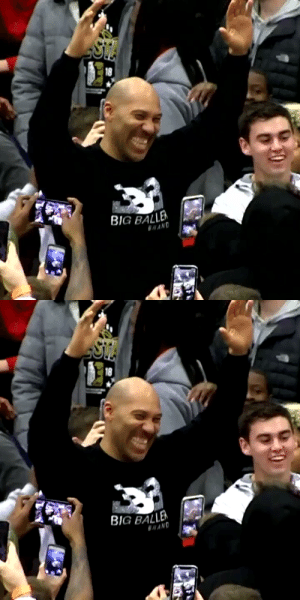 Lavar Ball showing the crowd that he can still shoot.... https://t.co/Z701dlva8h: Lavar Ball showing the crowd that he can still shoot.... https://t.co/Z701dlva8h