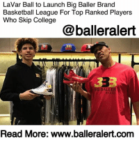 "America, Basketball, and Bbb: LaVar Ball to Launch Big Baller Brand  Basketball League For Top Ranked Players  Who Skip College  @balleralert  G BAL  BRA  Read More: www.balleralert.conm LaVar Ball to Launch Big Baller Brand Basketball League For Top Ranked Players Who Skip College – blogged by @MsJennyb ⠀⠀⠀⠀⠀⠀⠀ ⠀⠀⠀⠀⠀⠀⠀ LaVarBall is back at it again with his Big Baller ideas and new rules for success. ⠀⠀⠀⠀⠀⠀⠀ ⠀⠀⠀⠀⠀⠀⠀ The father everyone loves to hate and hates to love has just launched a new league for high school students to follow their dreams. According to Slam Online, the Junior Basketball Association will pay top prospects a couple of thousand dollars a month and will serve as an alternative to the one and done athletes. ⠀⠀⠀⠀⠀⠀⠀ ⠀⠀⠀⠀⠀⠀⠀ ""We have officially launched our own pro basketball league called the ""Junior Basketball Association,"" sponsored by Big Baller Brand,"" Ball said in a statement to the publication. ""The JBA is the very first junior pro basketball league of its kind. The JBA will cater to the top-ranked high school basketball prospects in America. All nationally ranked high school seniors, whose main goal are to reach the NBA, will be offered an opportunity to join the JBA, turning pro straight out of high school and bypassing the usual college pit stop."" ⠀⠀⠀⠀⠀⠀⠀ ⠀⠀⠀⠀⠀⠀⠀ With a monthly stipend between $3,000 to $10,000, as well as the proper tools and assistance needed to prepare for the NBA draft, the new league will be a new way for players to pursue the pros. ⠀⠀⠀⠀⠀⠀⠀ ⠀⠀⠀⠀⠀⠀⠀ According to Bleacher Report, Ball is looking to secure at least 80 players for 10 teams, with games held in LA, Dallas, Brooklyn, and Atlanta. He spoke with ESPN's Darren Rovell about his decision and expressed his confidence in league's participation, saying, ""Getting these players is going to be easy. This is giving guys a chance to get a jump start on their career, to be seen by pro scouts, and we're going to pay them because someone has to pay these kids."" ⠀⠀⠀⠀⠀⠀⠀ ⠀⠀⠀⠀⠀⠀⠀ The new league will follow the rules of the NBA with professional court features, but there is a catch. All players will be required to rock BBB merch for the league. ......to read the rest log on to BallerAlert.com (clickable link on profile)"