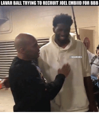 LAVAR BALL TRYING TO RECRUIT JOEL EMBIID FOR BBB  NBA  @NBAMEMES The newest ambassador of Big Baller Brand!