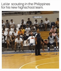 Bbb, Nba, and Philippines: LaVar scouting in the Philippines  for his new highschool team.  @NBAMEMES BBB on scouting duty...