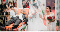 Memes, Cancer, and Charlotte: Law Tapalla Photography Charlotte Gay N Villarin via  ul Advanced liver cancer was not going to stop this proud father from walking his daughter down the aisle on her wedding day in Metro Manila, Philippines.