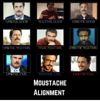 Chaotic Good: LAWFIL GOOD  NEOTRAL GOOD  CHAOTIC GOOD  LAWFIL NEUTRALTE NEUTRAL CHIOTIC NEUTRAL  LAWIUIL EVIL  NEUTRAL EVIL  CHAOTIC EVIL  MOUSTACHE  ALIGNMENT