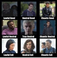 13 Reasons Why - Alignment Chart: Lawful Good  Neutral Good  Chaotic Good  Lawful Neutral True Neutral Chaotic Neutral  Lawful Evil  Chaotic Evil 13 Reasons Why - Alignment Chart