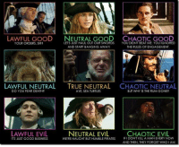 "Assassination, Journey, and Memes: LAWFUL GOOD NEUTRAL GOOD CHAOTIC GOOD  YOUR ORDERS, SIR?  LETS JUST HAUL OUT OUR SWORDS YOU DIDNT BEAT ME. YOU IGNORED  AND START BANGING AWAY!  THE RULES OF ENGAGEMENT  LAWFULNEUTRAL TRUE NEUTRAL  CHAOTICNEUTRAL  AYE, SEA TURTLES  DO YOU FEAR DEATH?  BUT WHY IS THE RUM GONE?  LAWFUL EVIL  NEUTRAL EVIL  CHAOTIC EVIL  WERE NAUGHT BUT HUMBLE PIRATES  FI DONT KILL A MAN EVERY NOW  ITS JUST GOOD BUSINESS  AND THEN, THEY FORGET WHO IAM Story Time, with Olive the Terrible  Face it, if you haven't heard of these characters, or thought about which alignment they best represent, you've been living under a rock larger than the one I've been hiding under for the last week.  All kidding about my spelunking habits aside, I wanted to talk about where characters may fall along the alignment scale in D&D, although I am open to other systems' form of management in regards to good and evil.  Was there ever a character you played that was more defined by their inclination toward good or evil?  What did they do?  Were they renowned for their piety, or their avarice?  Let me know in the comments.  I once played a rogue, which is a huge step away from my familiar, and trusty Lawful Good characters (Olive the Terrible does not endorse Lawful Good as the only alignment your PCs should be allowed to play, it's just the one she's most familiar with as she normally plays Monks, Clerics, and Paladins.)  My rogue was only Chaotic Good, but it became more of a defining characteristic than even the bard's incessant skirt-chasing, that people would start whispering about how my character was known for looking out for herself first, her teammates second, and finally the greater good, in that specific order at all times.  At one point, the bard and I engaged in a friendly wager of who could bed a certain bar-maid.  While he was bragging about his prowess at stealing her undergarments without her knowledge, I came behind her and stole the bar-maids panties and left the bard with a black eye, a lighter purse, and me with much warmer company for the night.  I would have never engaged in this kind of behavior in any of my other characters and it's mostly because of being the straight-laced goody goody that I usually played.  The campaign culminated with my party facing a demon who was going to destroy the world, plunging it into a millennia long night, where he could breed more of his kind so he could invade, and conquer another plane of existence.  The final decision on what to do was pretty obvious, and if I were playing one of my paladins, or monks, I would know exactly what to do in that moment, but I was a ""self-serving"" rogue, so I had to weigh the options.  My team was mostly cut down to ""moral support"" i.e. unconscious while I was either able to get a good back stab in, or choose to save my teammates, because we could always try to assassinate the demon later.  I chose to one, remain breathing and free, so I stabbed the demon in the back with a holy dagger that I lifted off of the cleric who was leading the party when he decided that his battle-cry should be Leroy Jenkins(in all honesty, it was a hopeless encounter with a swarm of zombies), two, I wanted to save my friends, so I used my one divine favor to gain god-like powers for one hour.  The boost in my physical stats and the sudden granting of magical powers gave me the ability to guarantee both my survival, the demon's demise, and the survival of the entire party, but the only problem with this divine favor was that everyone would never know who it was that saved them, so I set out on another journey, seeking fame and renown, now more battle-hardened.  -Olive the Terrible"