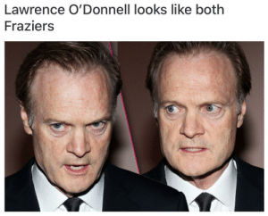 Meme, Reddit, and Cracker: Lawrence O'Donnell looks like both  Fraziers Cracker Jacks Original Meme