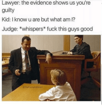 Snapchat: DankMemesGang: Lawyer: the evidence shows us you're  guilty  Kid: I know u are but what am l?  Judge: whispers fuck this guys good  @TheFunny introvert Snapchat: DankMemesGang