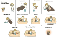 "<p>How To Care For A Sad Person! via /r/wholesomememes <a href=""http://ift.tt/2n8og3Q"">http://ift.tt/2n8og3Q</a></p>: . Lay blanket out  2. Pick up sad person  3. Lay sad person in blanket  How to care  for a sad person  7. Put on rols favorite movies  . Rol them like a sushi  5. Place sad roll on bed/couch/comfy place  6.Hugroll close  9. Make sure roll is well hydrated  Tears make rotl dehydrated  8. Feed roll snacks  10. Happy lil' sushi roll <p>How To Care For A Sad Person! via /r/wholesomememes <a href=""http://ift.tt/2n8og3Q"">http://ift.tt/2n8og3Q</a></p>"